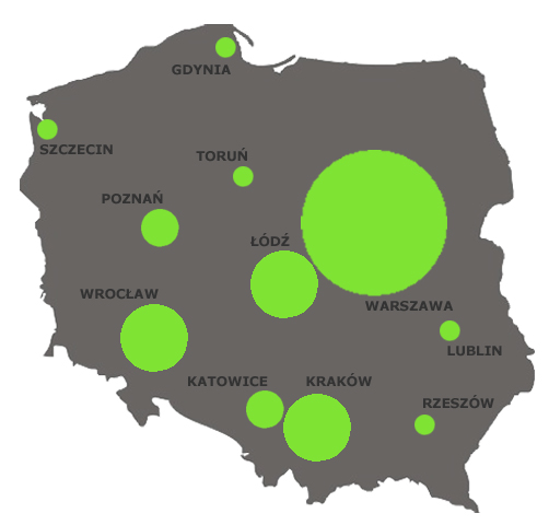 Mapa polskiego coworkingu 2012