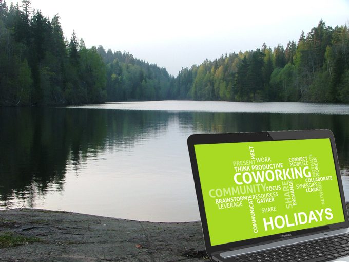 o czym pisać jak nie ma się pomysłu - coworking w wakacje