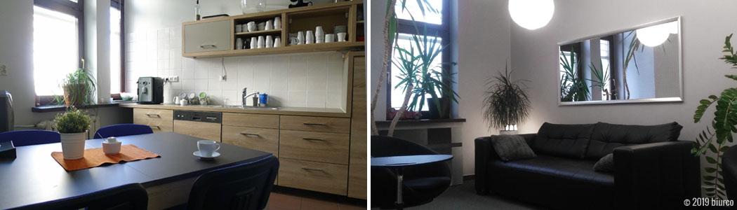 Biurco oferuje dużą, widną kuchnię z wygodnym stołem i pełnym wyposażeniem.