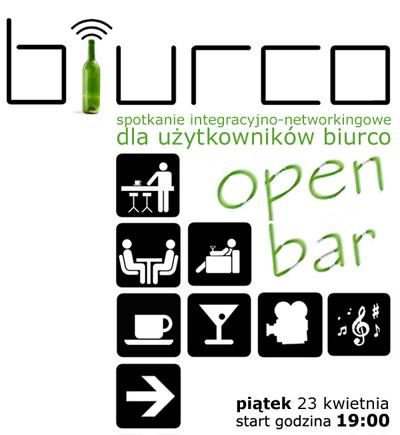 OPENBAR - spotkanie integracyjne Użytkowników biurco w piątek 23. kwietnia