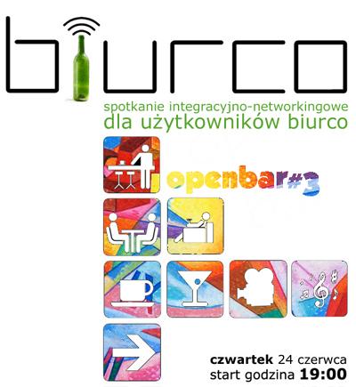 OPENBAR - spotkanie integracyjne Użytkowników biurco w czwartek 24. czerwca